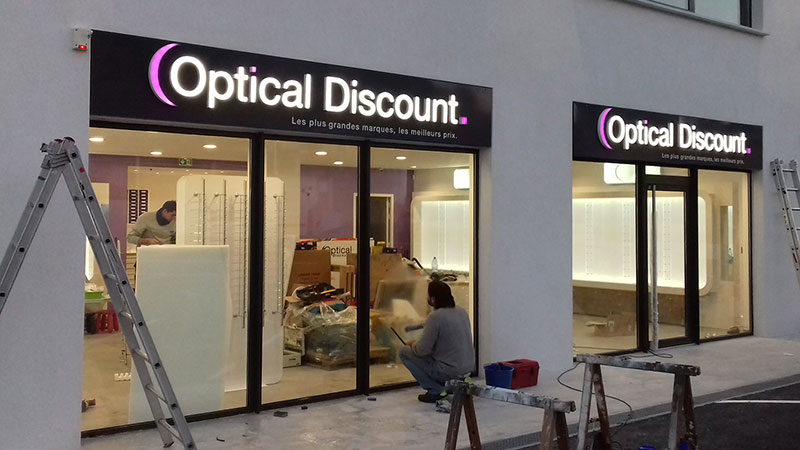 Enseigne Optical Discount 1