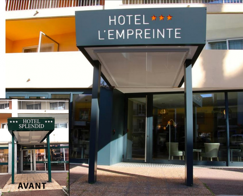 Enseigne Hotel L'Empreinte 1